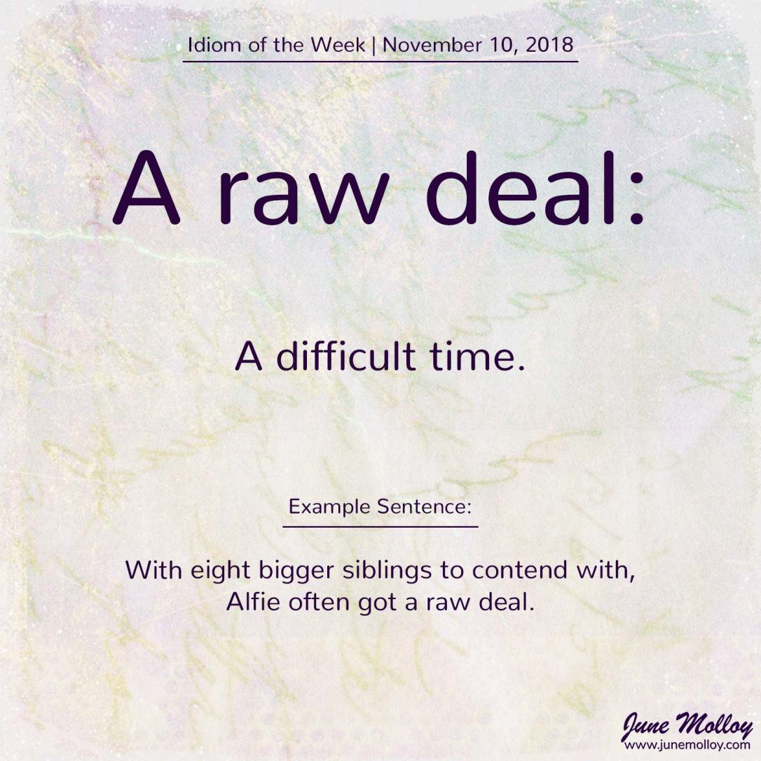 Idiom of the Week | www.junemolloy.com