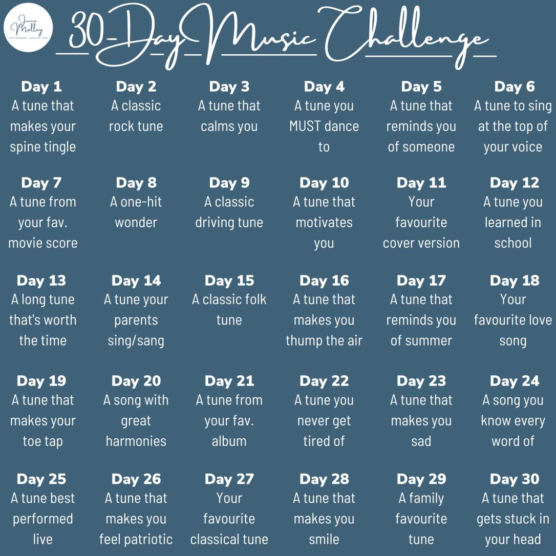 30-Day Music Challenge | www.junemolloy.com