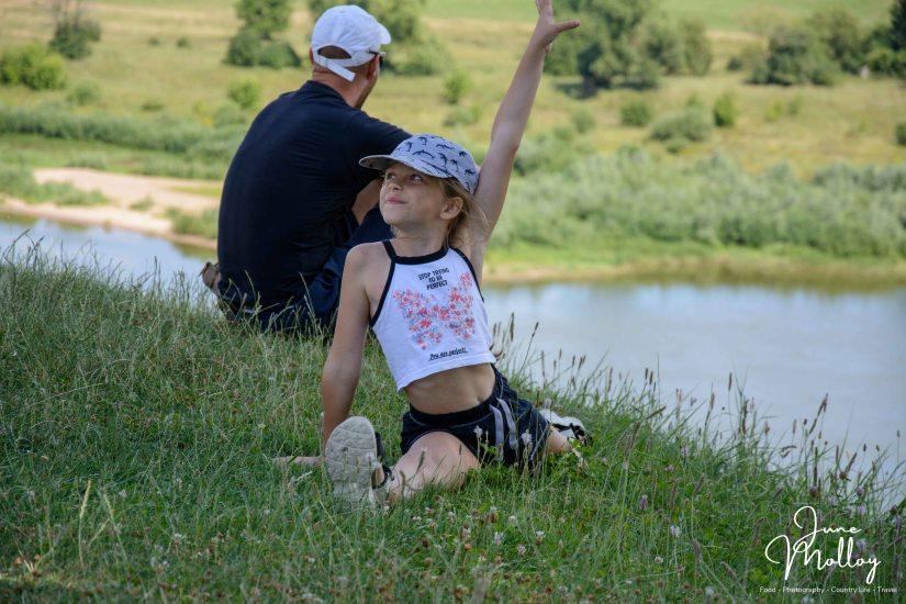 Gymnastics on the Nemunas shoreline   www.junemolloy.com